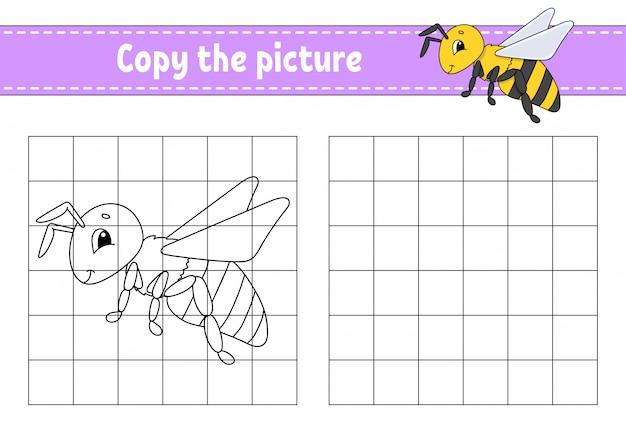 Copiez la feuille de calcul image abeille