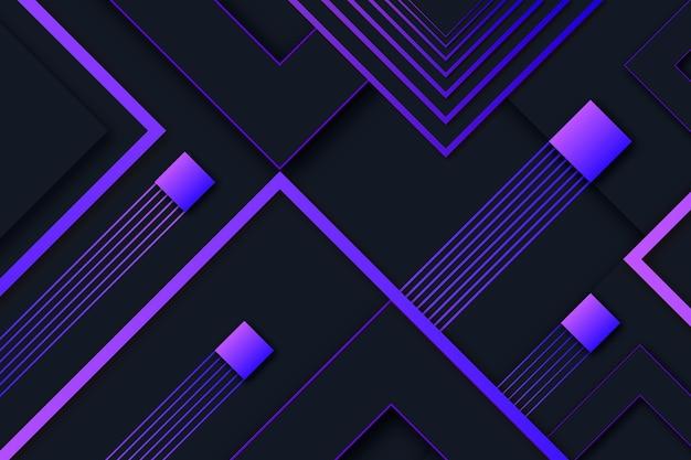 Copiez le fond géométrique dégradé moderne de l'espace
