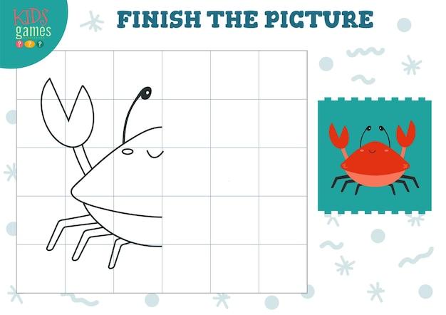 Copiez l'illustration de l'image. jeu complet et à colorier pour les enfants d'âge préscolaire et scolaire.