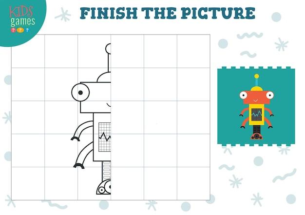 Copiez l'illustration de l'image pour les enfants d'âge préscolaire et scolaire