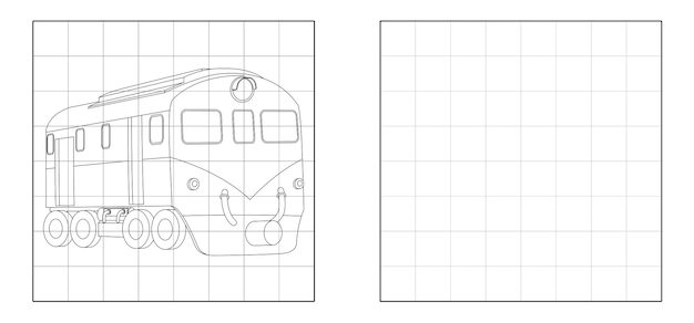 Copiez l'image du dessin animé de train