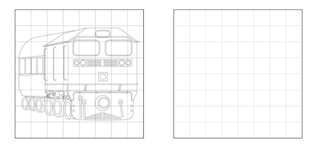 Copiez l'image du train