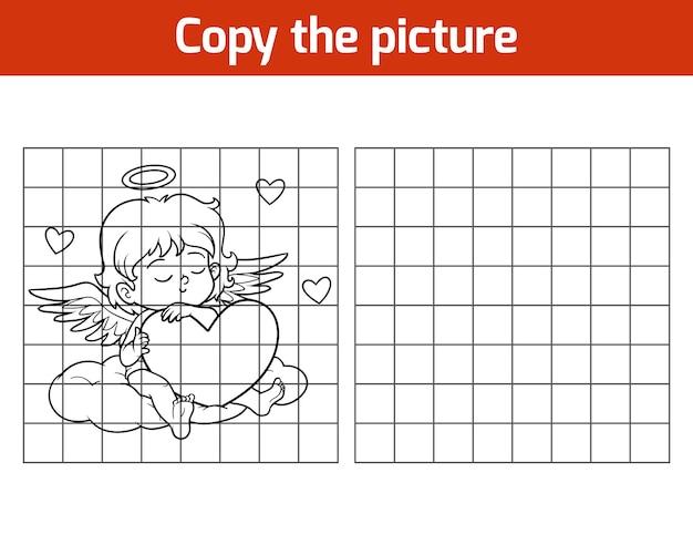 Copiez l'image, jeu éducatif pour les enfants, angel
