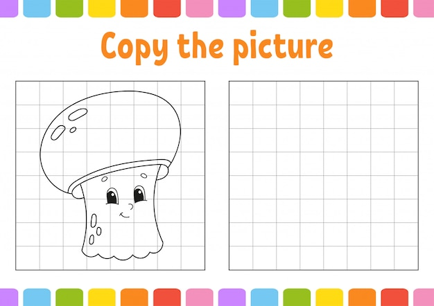 Copiez l'image. pages de livres à colorier pour les enfants. feuille de travail pour le développement de l'éducation.