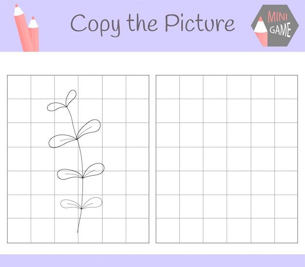 Copiez la photo: croissance mignonne. livre de coloriage. jeu éducatif pour les enfants.