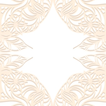 Copyspace de cadre de papier floral.