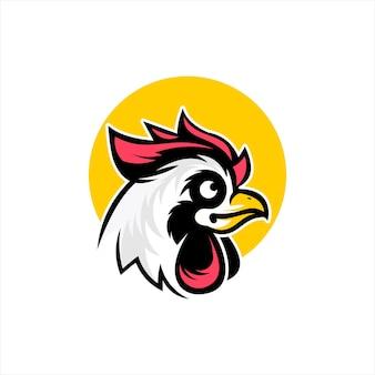 Coq doodle dessin animé tête de poulet vector animal ferme