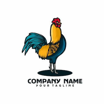Coq logo template vecteur