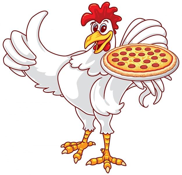 Coq et pizza