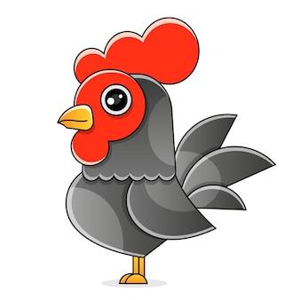Coq portugais de barcelos. symbole du portugal. plate illustration vectorielle.