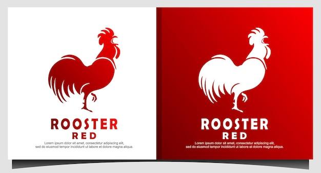 Coq poulet coq volaille ferme logo graphique