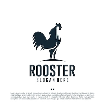 Coq de poulet, danger, modèle de conception de logo