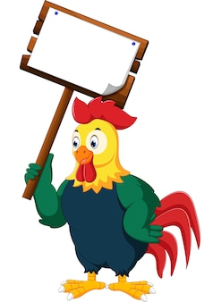 Coq de poulet dessin animé