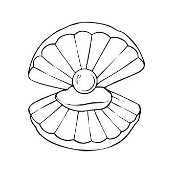 Coquille dessiné à la main étoile de mer marine nature océan aquatique sous-marin