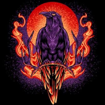 Le corbeau en feu