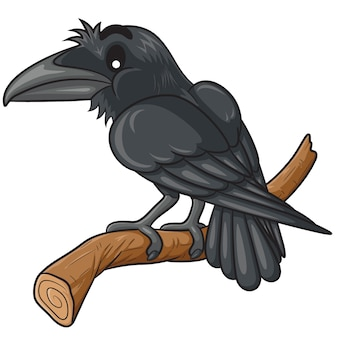 Corbeau mignon dessin animé