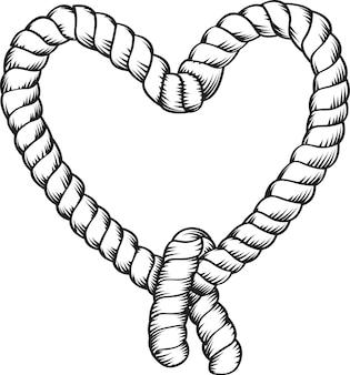 Corde en forme de coeur