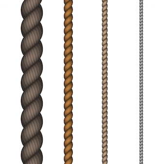 Corde moderne sur fond blanc