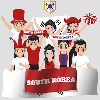 Corée du sud supporter de l'équipe nationale
