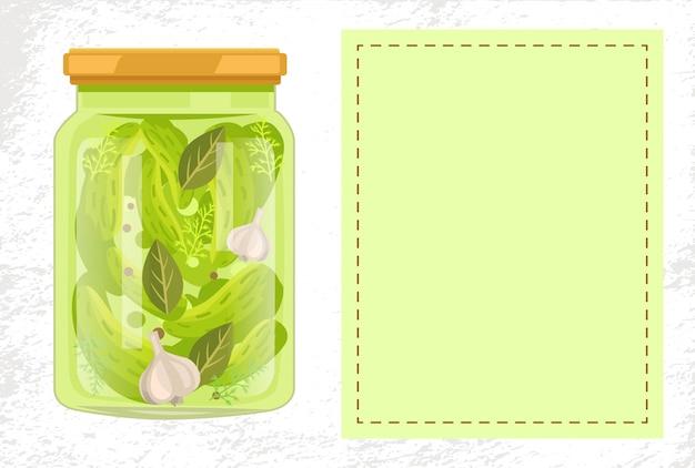 Cornichons concombres feuilles de laurier ail et poivre