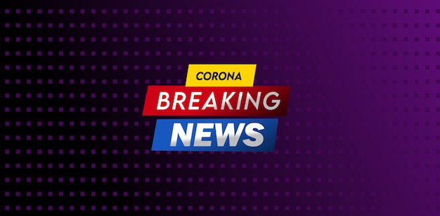 Corona breaking news design de modèle de titre
