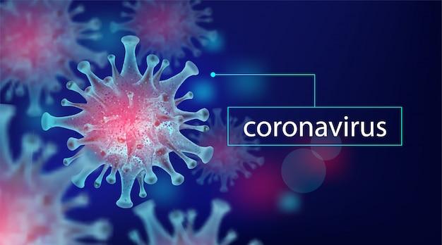 Coronavirus 2019-ncov, élément pour concept médical, virus du microscope