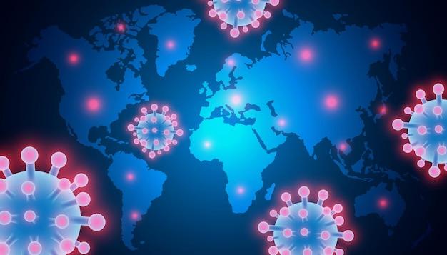 Coronavirus dans le monde entier la propagation du coronavirus covid2019 pandémie de virus dangereux