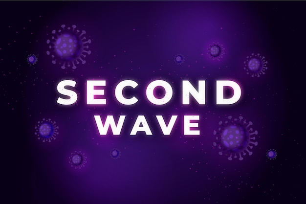 Coronavirus deuxième concept de vague papier peint
