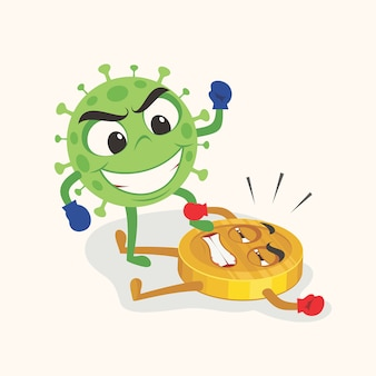 Le coronavirus a frappé l'économie.