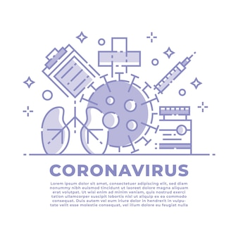 Coronavirus et illustration médicale
