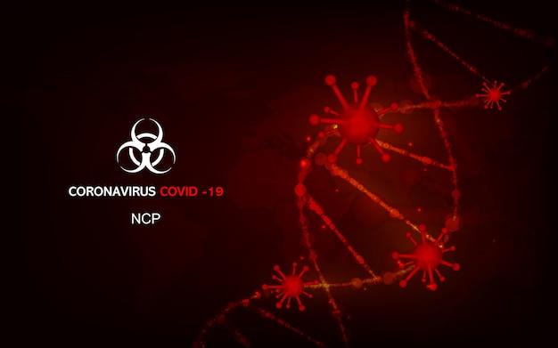 Coronavirus maladie covid-19 pandémie médicale d'infection sur le concept mondial.