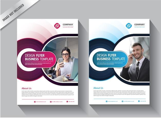 Corporate business flyer affiche brochure brochure couverture conception mise en page arrière-plan