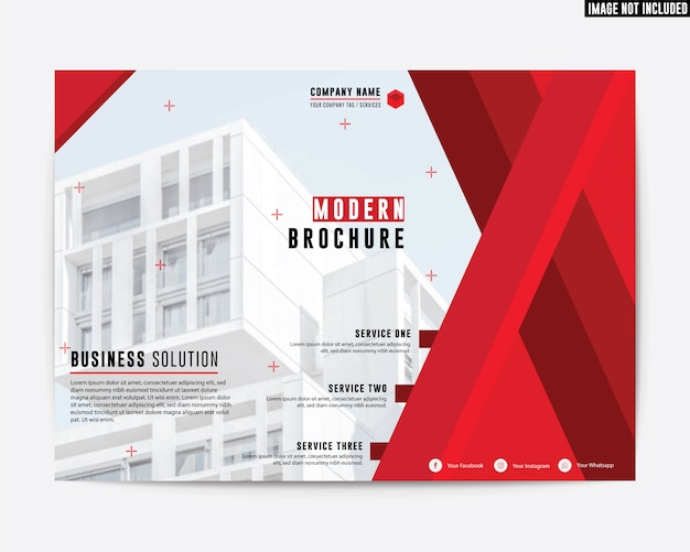 Corporate style premium brochure couleur rouge rapport annuel