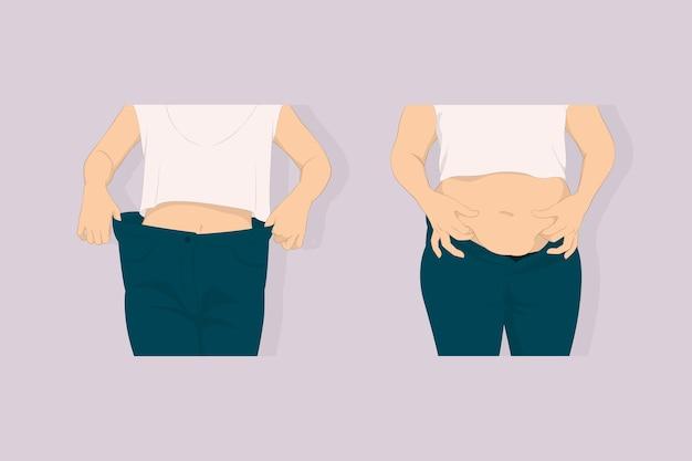 Corps gras et concept de corps mince