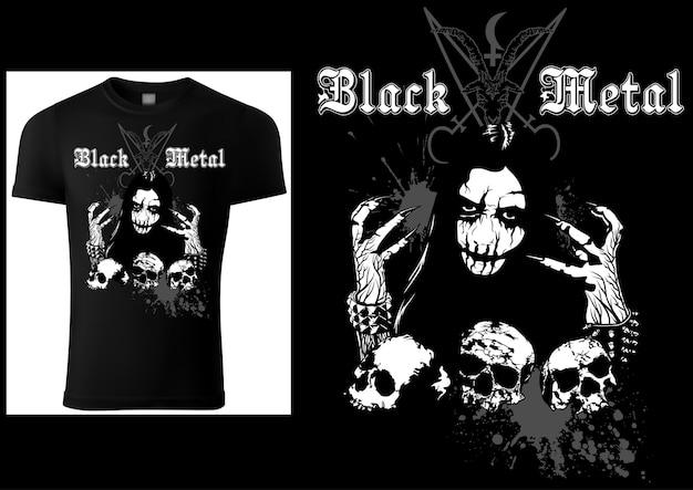 Corpse paint tshirt gothic black metal design