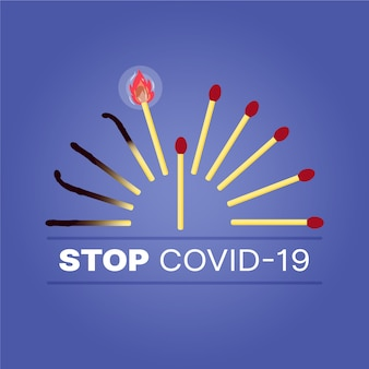 Correspond au concept d'arrêt du coronavirus