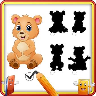 Correspondance d'ombre de dessin animé d'ours