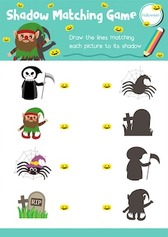 Correspondance de l'ombre jeu halloween