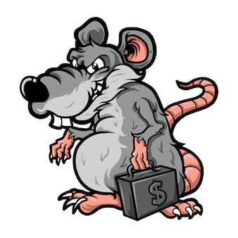 Corrupteur de rat de bande dessinée