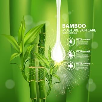 Cosmétique de soins de la peau aux plantes réalistes en bambou