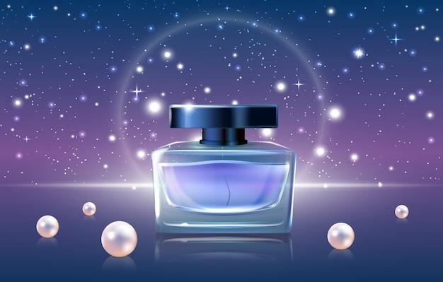 Cosmétiques de parfum bleu