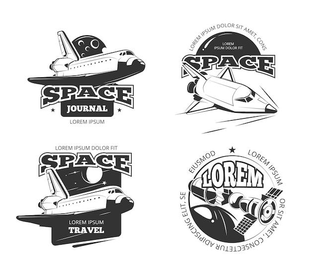 Cosmos espace astronaute insignes emblèmes et logos