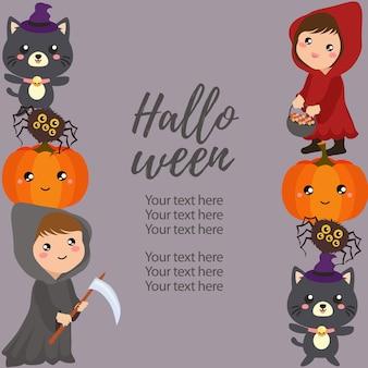 Costume de bordure verticale halloween costume de hotte rouge