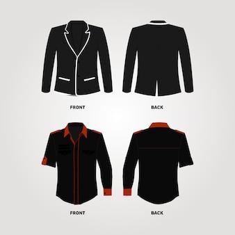 Costume et chemise design tempate
