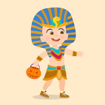 Costume d'halloween enfant du pharaon égyptien