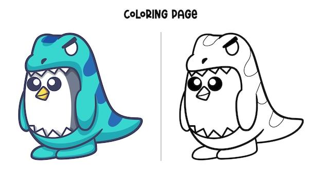 Costume de pingouin t-rex