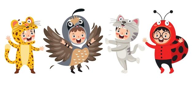 Costumes d'animaux drôles pour enfants