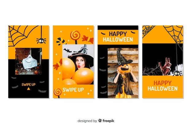 Costumes et décors halloween histoires instagram