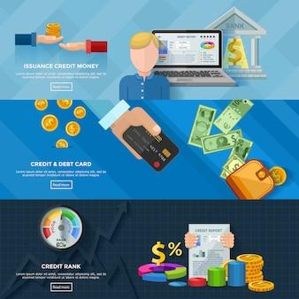 Cote de crédit bannières horizontales
