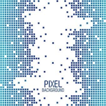 Côtés fond de pixel bleu avec blanc au centre